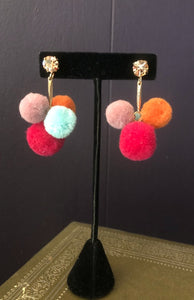 Pom Pom earrings (Available in grey or multi)