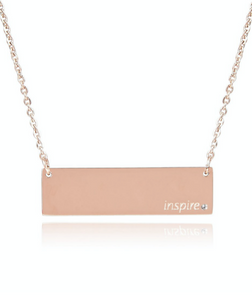 Inspire Bar Necklace