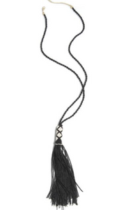 Pia Beaded Tassel Necklace (Multiple Colors)