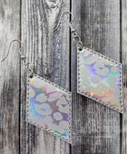 Holographic Leopard Earrings