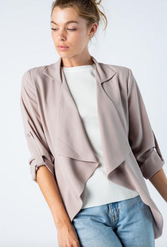 Waterfall Blazer (Available in Black & Taupe)