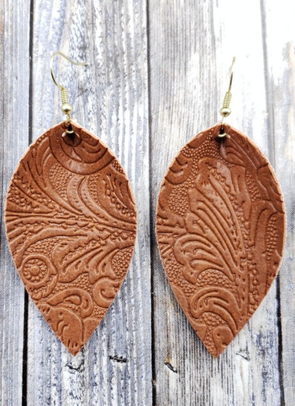 Bourbon Cut Petal Earrings
