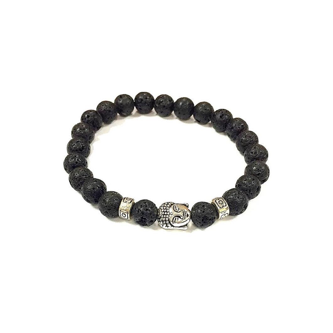 Virtu Made - Lava Rock and Buda head Bracelet