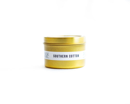 Southern Cotton Tin Candle
