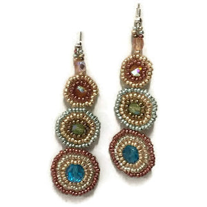 Shades of Metallic Solstice Earrings - Guatemala