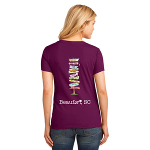 Beaufort Signpost T-Shirt - Women's V-Neck