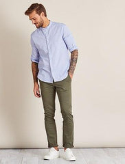 Stretch cotton twill chinos