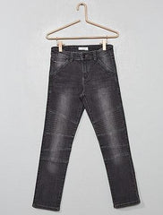 Biker-style slim-fit trousers