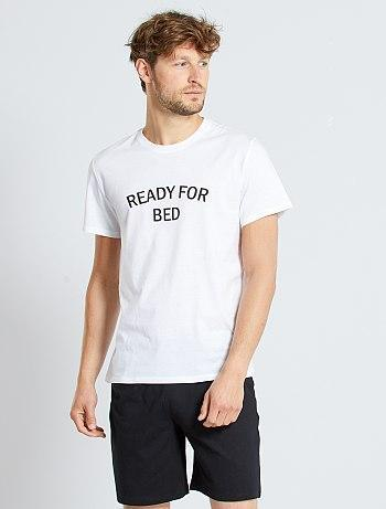 Short slogan pyjamas