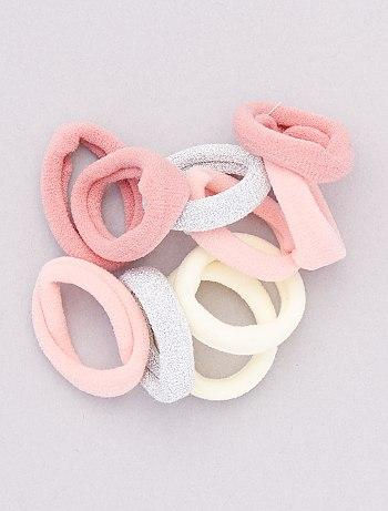 Pack Of 10 Elasticated Scrunchies