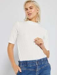High-neck T-shirt