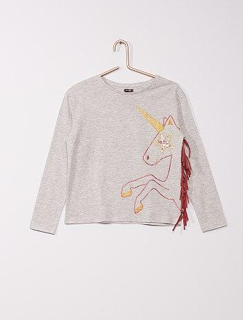 Unicorn T-Shirt With Fringing