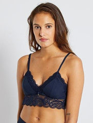 Ribbed triangle bra