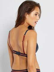 Non-wired padded triangle bra