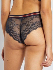 Microfibre And Lace Boy Shorts