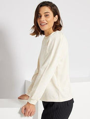Lightweight sweatshirt with leg-of-mutton sleeves