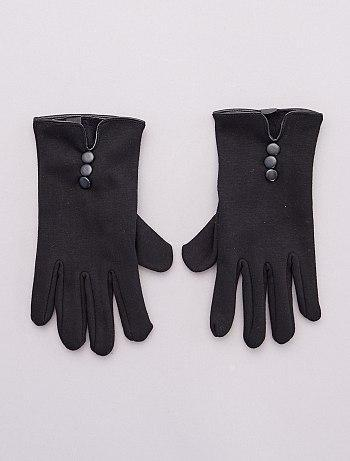 Warm leather touchscreen gloves