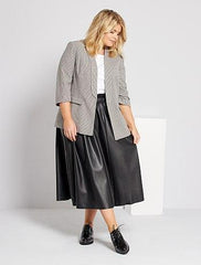 Faux leather long skirt