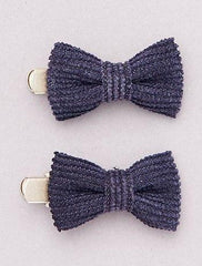 Pack Of 4 Metallic Hair Clips With Bow