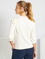 T-shirt with shoulder tabs