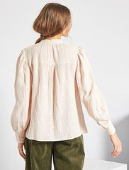 Cotton gauze blouse