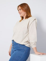 Lightweight sweater with shoulder pads