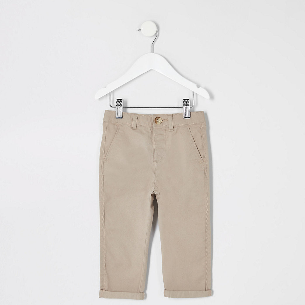 Stone Mb Casual Chino W Embro