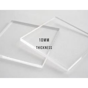 "10mm Glass 24"" x 12"" //  OptiClear Anti-Reflective Glass"
