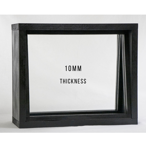 "10mm Frame 30"" x 18"" OptiClear Glass Port Window // Frame & Glass"