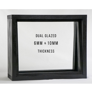 "6mm & 10mm Dual Glazed Frame 18"" x 36"" OptiClear Glass Port Window // Frame & Glass"