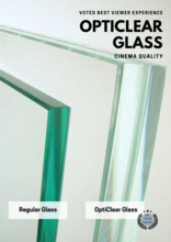 "10mm Glass 12"" x 24"" //  OptiClear Anti-Reflective Glass"