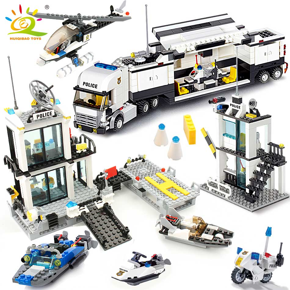511pcs Police Station Truck Building Blocks with Policeman Figures Toys Bricks