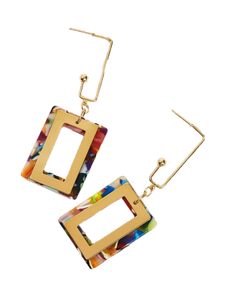 Colorblock Rectangle Earrings