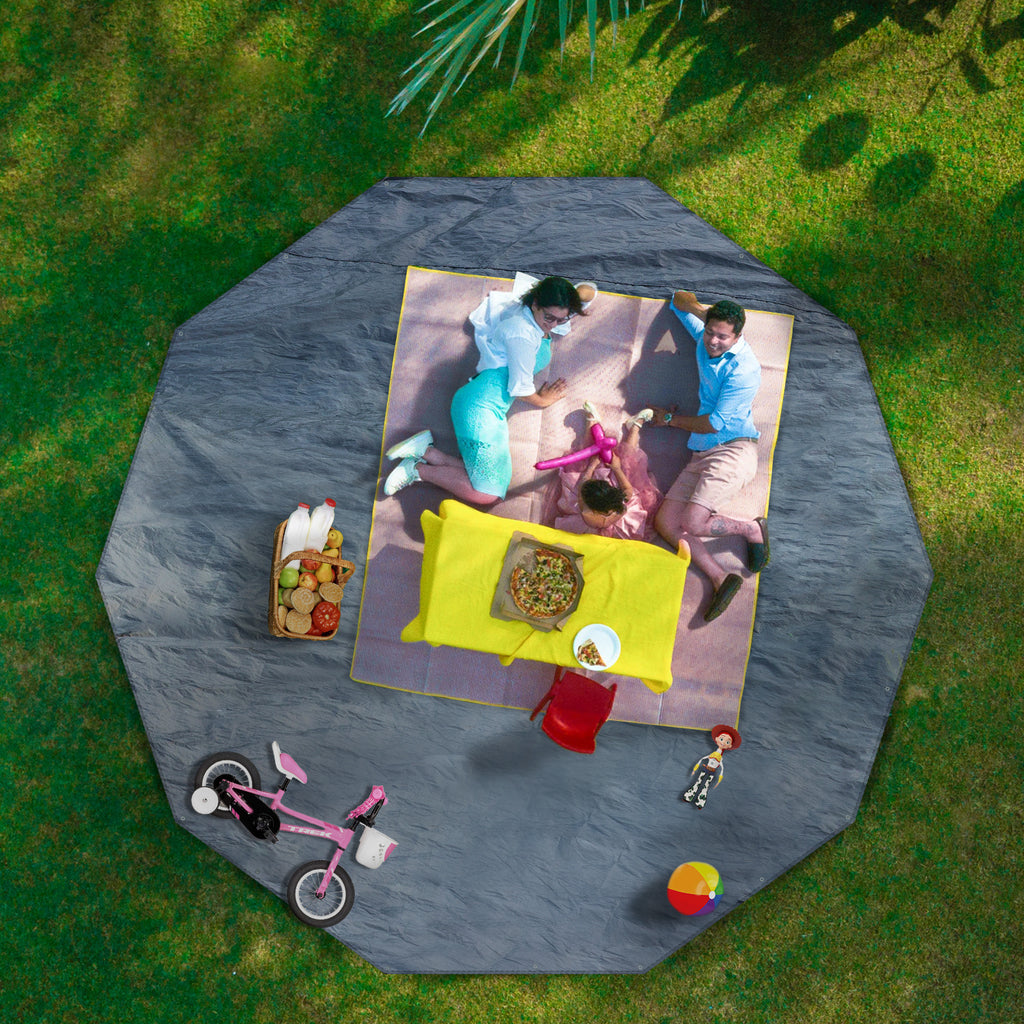 Waterproof PE Tarp Floor Mat For Screen House Gazebo