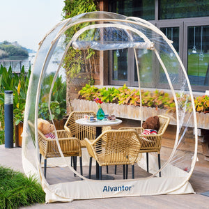 Alvantor 6'×6' Outdoor Bubble Tent™ Pop Up Gazebo™ Family Camping Backyard Transparent Patented