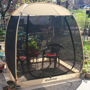 Alvantor Screen House Room Outdoor Camping Tent Canopy Gazebos 4-15 Person for Patios, Instant Pop Up Tent, Not Waterproof