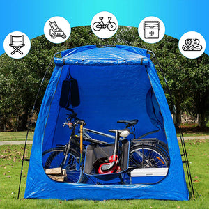 Bike Storage Shed Tent Waterproof Portable Backyard Outdoor Bicycle Yard Stash Shelter