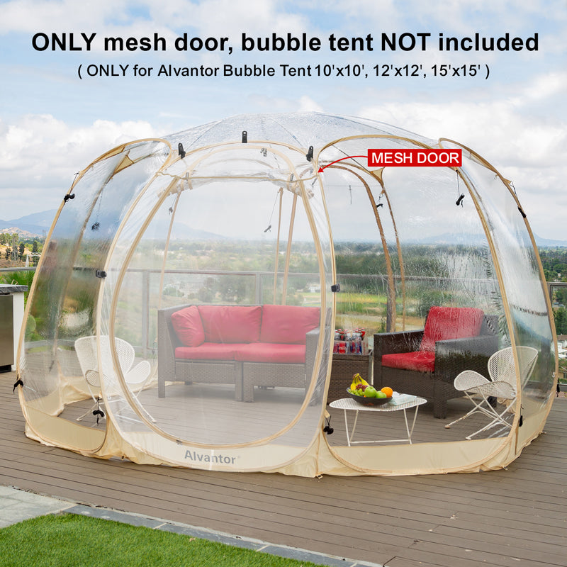 Alvantor Mesh Door Screen Door Accessories for Bubble Tent Canopy Gazebo Keep Bugs Out for Air Ventilation