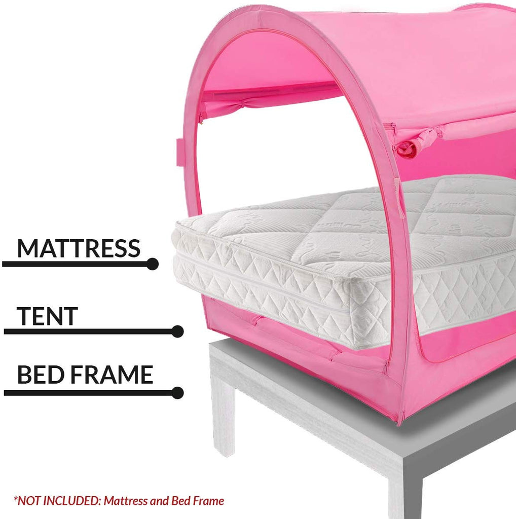 Pink Bed Tent Twin/Full (Mattress Not Included)