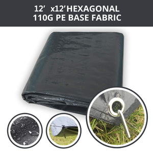 Hexagon Tarpaulin Cover PE Floor Mat