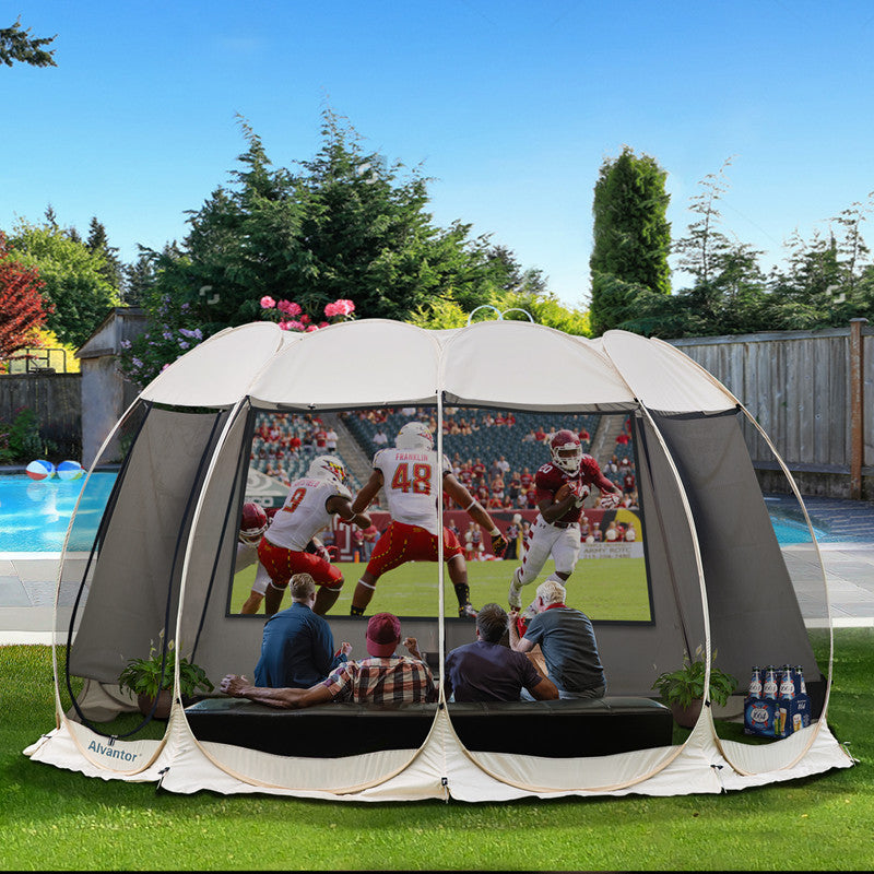 Alvantor 15'x15' Screen House Outdoor Canopy Patio Gazebo for Parties and Outdoor Activities Patented