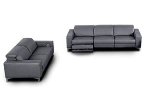 Stozza Sofá y Loveseat con 5 Reclinables Piel Cat 07 Grafito