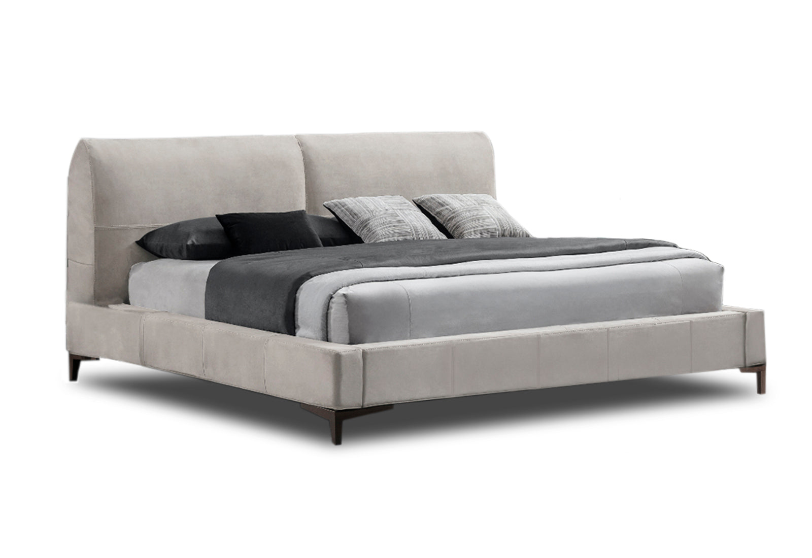 Tazzo Cama KS Piel Cat 04 Buk Off White