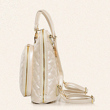 Women's Bags Backpack Zipper for Casual Office & Career Outdoor All Seasons White Black