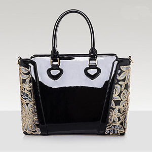 Women's Bags Patent Leather / Tote for Event / Party / Office & Career Champagne / Black / Red