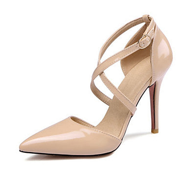 Women's Shoes PU(Polyurethane) Spring / Summer Comfort / Novelty Heels Stiletto Heel Pointed Toe Yellow / Pink / Nude / Wedding