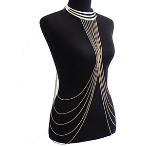 Tassel / Crossover Belly Chain / Body Chain / Harness Necklace Tassel, European