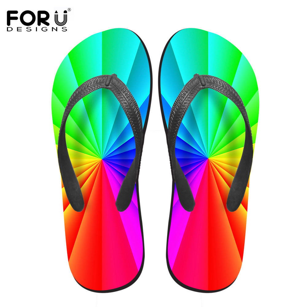 2018 3D Candy Color Women Casual Flip Flops Summer