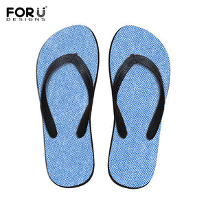 FORUDESIGNS 2018 Summer Non-slip Women's Home Flip Flops Solid Fashion Beach Water Shoes for Ladies Flats Flipflops Women Girls