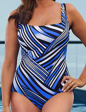 Women's Boho Halter One-piece - Striped